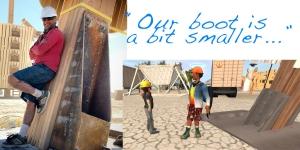 big Man, little builders :-)